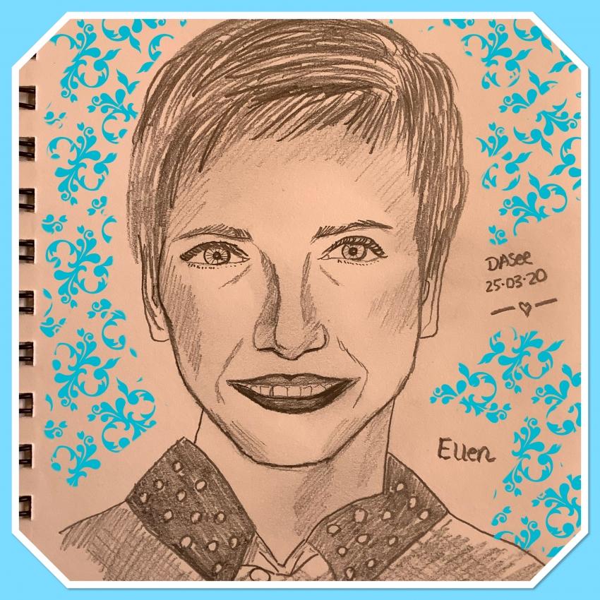 Ellen DeGeneres by dasee